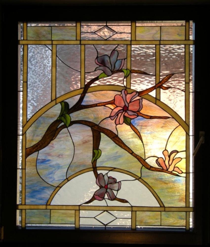 Leaded Stained Glass : Stained glass panels