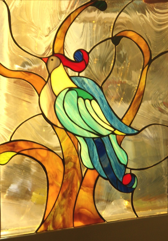 Stained glass for windows, dividers, glass walls