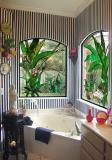 Kupatilski vitraž izradjen u dimenzijama 120cm x 100cm